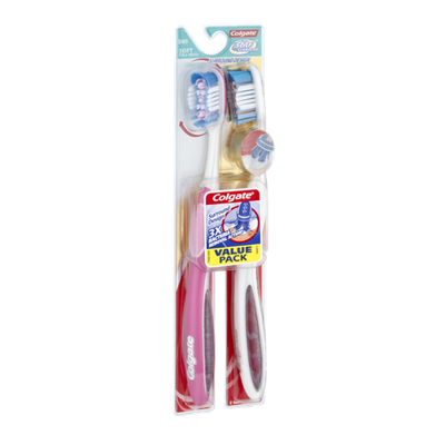 Colgate 360 Surround Soft Full Head Toothbrushes - 2 CT