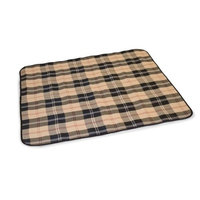 K H Manufacturing K&H 57-Inch by 52-Inch All Purpose Throw, Large, Tan Plaid