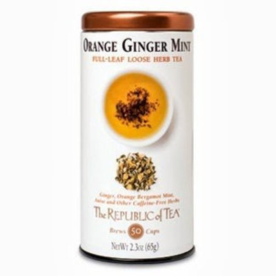 The Republic Of Tea Orange Ginger Mint Full Leaf Tea, 2.3 Ounces / 50-60 Cups