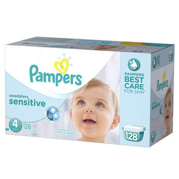 Pampers Swaddlers Sensitive Diapers Economy Plus Pack Size 4 (128
