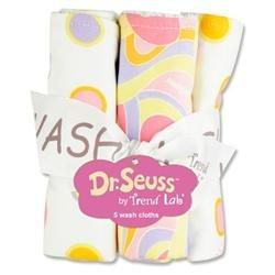 Trend Lab Bouquet 5 Pack Wash Cloth - Dr. Seuss Pink - 30383