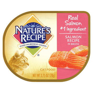 Nature's Recipe Salmon in Broth Canned Cat Food