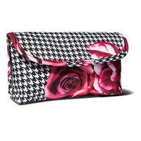 Sonia Kashuk Houndstooth Print - Double Zip Foldover