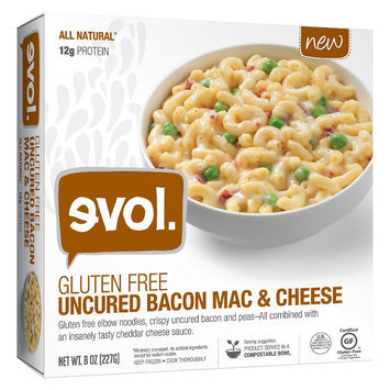 Evol Gluten Free Uncured Bacon Mac and Cheese 8oz