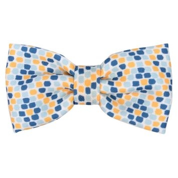 Boots & Barkley Bow Tie Collar Accessory - Yellow and Blue Dot
