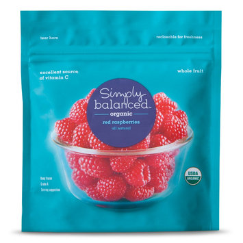 Simply Balanced Organic Frozen Red Raspberries 10oz