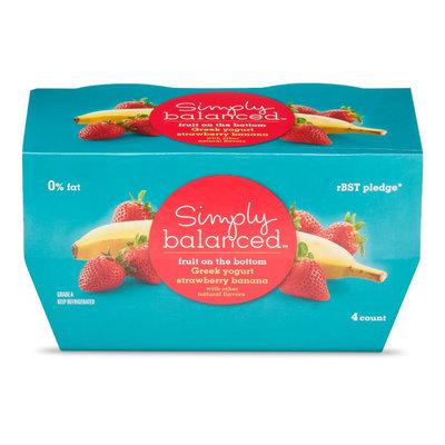 Simply Balanced Greek Strawberry Banana Yogurt 5.3oz