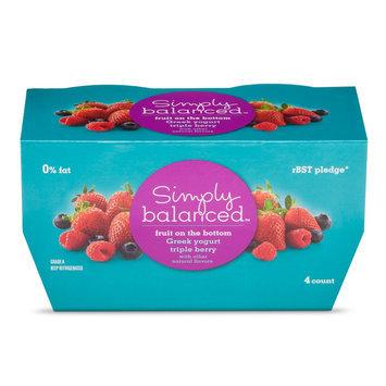 Simply Balanced Greek Triple Berry Yogurt 5.3oz