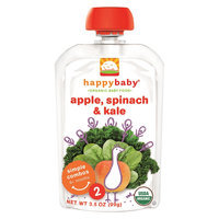 Happy Baby Stage2 Apple, Spinach & Kale - 3.5 oz