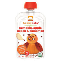 Happy Baby Stage 2 Pumpkin, Apple, Peach & Cinnimon - 3.5 oz