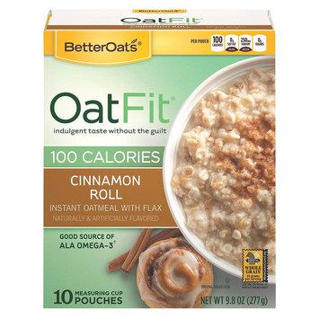 Better Oats Oat Fit Cinnamon Roll Oatmeal 10 pk