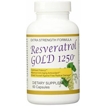3 Pack-Resveratrol Gold 1250 - Maximum Potency 1250 Mg