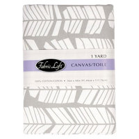 Fabric Loft Vogue Arrow Feathers Fabric - Gray (1 yd)