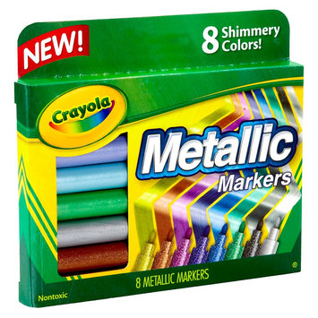 Crayola Metallic Markers - 8 Count