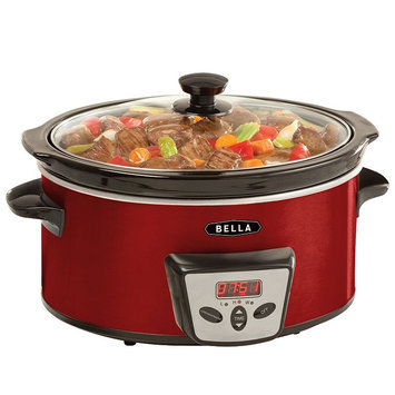 Bella 5-qt. Programmable Digital Slow Cooker (Red)