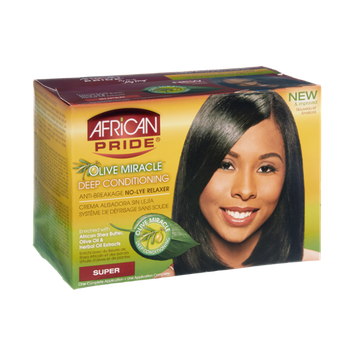 African Pride Olive Miracle Super Deep Conditioning Anti-Breakage No-Lye Relaxer