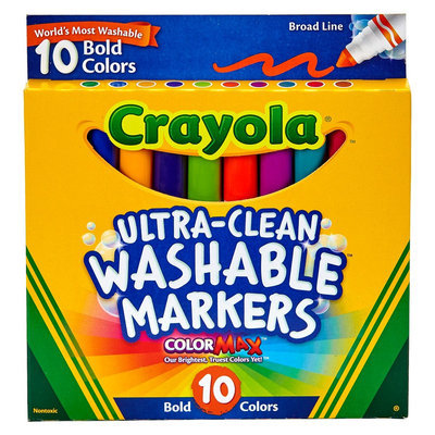 Crayola 10ct Ultraclean Washable Markers Bold