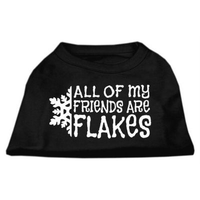 Mirage Pet Products 51-25-18 XSBK All my friends are Flakes Screen Print Shirt Black XS - 8