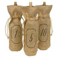 Hortense B. Hewitt Hortense B Hewitt 34984 Burlap Wine Bags - Table Numbers - 1-10