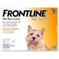 Merial Frontline Top Spot Flea and Tick Control for Dogs and Puppies, 6 Doses