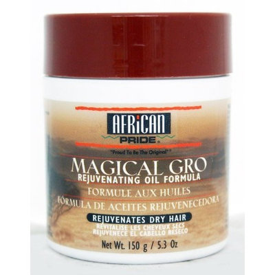 AFRICAN PRIDE African Miracle Magical Gro Rejuvenates Dry Hair 5.3oz/150g