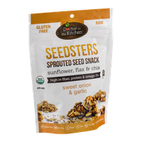 Doctor In The Kitchen Seedsters Sprouted Seed Snack Sunflower, Flax & Chia Sweet Onion & Garlic