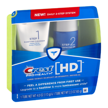 Crest Pro-Health HD Fluoride Toothpaste/Whitening Gel - 2 CT