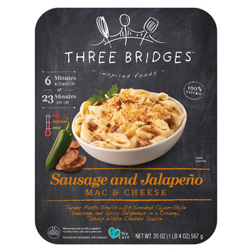 Valley Fine Foods Three Bridges Sausage and Jalapeno Mac & Cheese 20 oz