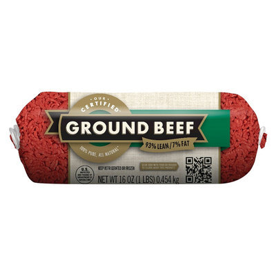 Cargill Meat Solutions 93/7 Ground Beef Chub 1 lb