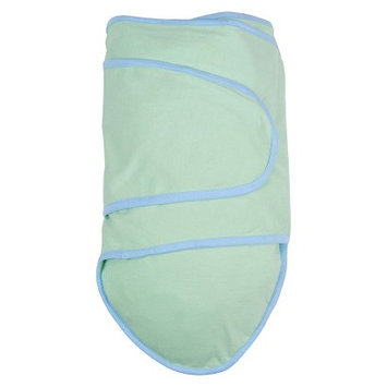 Miracle Blanket In Green With Blue Trim