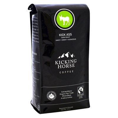 Kicking Horse Coffee Organic Fair Trade Dark Roast Whole Bean Coffee 10 oz