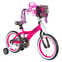 License Girl's Barbie Bike - Pink/Black (16