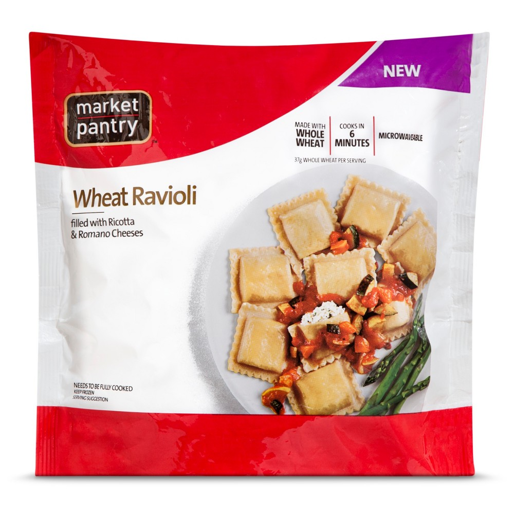 Market Pantry Square Whole Wheat Ravioli 25 oz