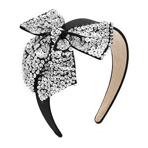 JUKO Headband with sequined bow