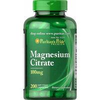 Puritan's Pride Magnesium Citrate 100 mg-200 Capsules