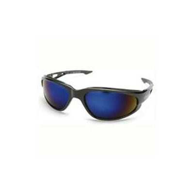 Wolf Peak International SW118 Safety Glass Black & Blue Mirror Lens Dakura