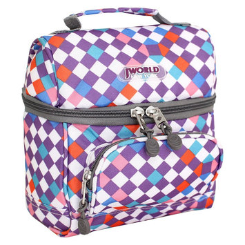 J World JWorld Corey Lunch Bag with Front Pocket, Checkmate