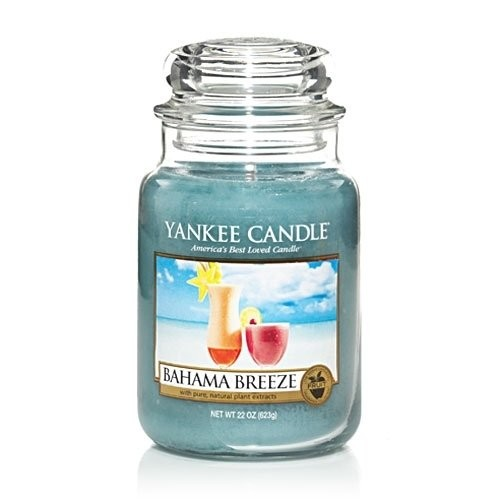 Yankee Candle 22-Ounce Jar Candle, Large, Bahama Breeze
