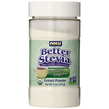 Now Foods Organic Stevia, White, 4 Ounce