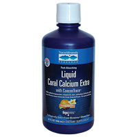 Trace Minerals Research Liquid Coral Calcium Extra Orange Vanilla - 1000 mg - 32 fl oz
