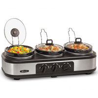 Sensio Inc. Bella Cucina Triple Slow Cooker 3 x 1.5QT Oval