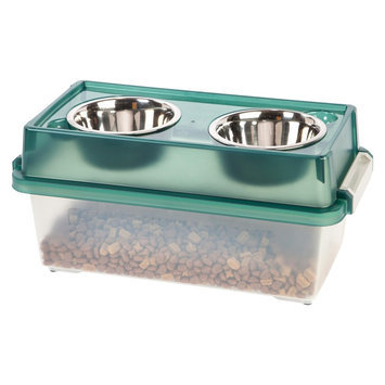 Iris USAa ¢ Elevated Small Dog Feeder with Storage
