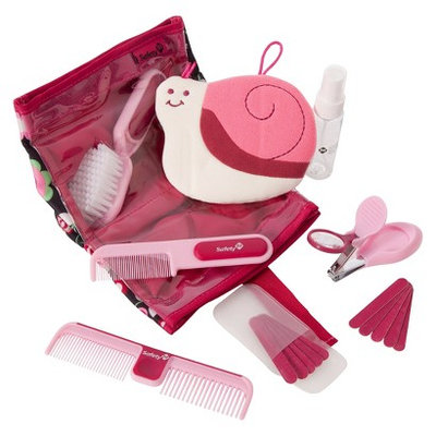 Safety 1st 18pc Complete Baby Care Grooming Kit with Case - Pink/White