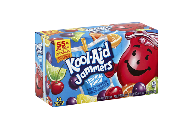 Kool-Aid Jammers Tropical Punch Pouches