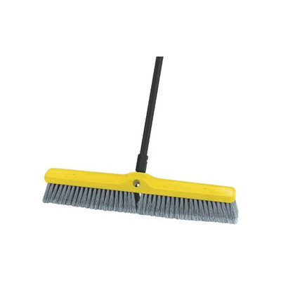 Rubbermaid Warehouse Brooms Gray Brush Floor Polypropylene Medium24
