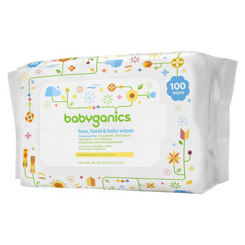 Babyganics Face, Hand & Baby Wipes, Fragrance Free - 100 Count