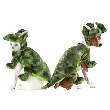 Boots & Barkley LED Plush Triceritops Pet Costume - Medium