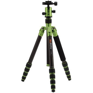 MeFOTO RoadTrip Carbon Fiber Travel Tripod Kit, Includes Dual-Action Ball Head, Induro PU-50 Slide-In Quick Release Plate, Carry Case, Green