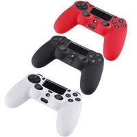 Image 3 Packs Silicone Case Grip Cover For Sony PlayStation 4 PS4 Controller Red/White/Black