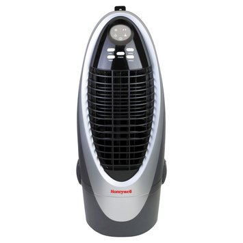 Honeywell 21 Pt. Indoor Portable Evaporative Air Cooler with Remote Control - Silver/Grey